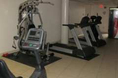 The fitness center at The Palms